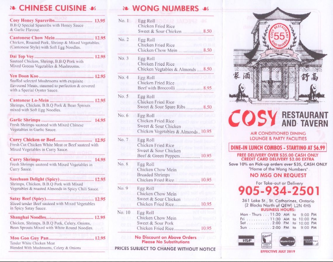 menu prices